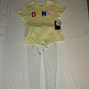 DKNY Girls' 2-Piece Leggings Set Outfit